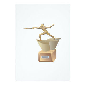 Fencing Trophy 5x7 Paper Invitation Card