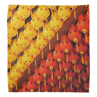 Feng Shui Yellow Red Lanterns Bandana