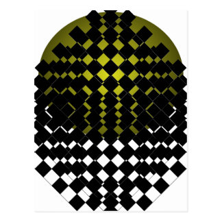 FengShui Fusion Army Green Black Geometric Hipster Postcard