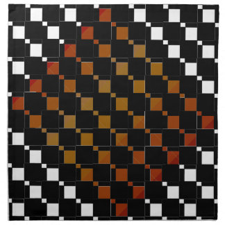 FengShui Fusion Gold Black Geometric Hipster 4 Napkin