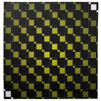 FengShui Fusion Olive Black Geometric Hipster 3 Napkin