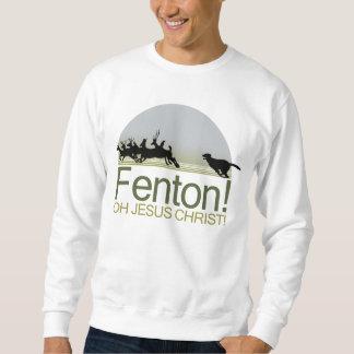 Fenton! the dog chasing deer in Richmond Park Sweatshirt