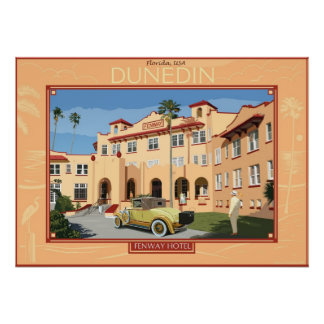 Fenway hotel. Dunedin, Florida Poster