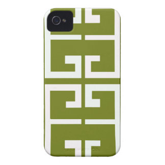 Fern Green and White Tile Case-Mate iPhone 4 Case