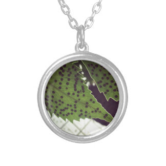 fern silver plated necklace
