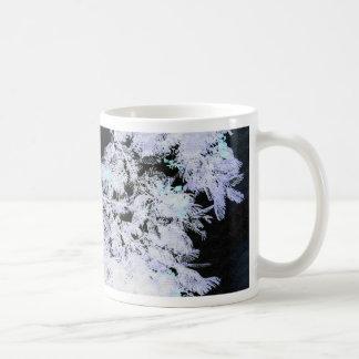 Fern Tree with Flowers- Negative Coffee Mug