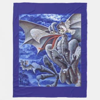 Ferocious Gargoyle Fleece Blanket