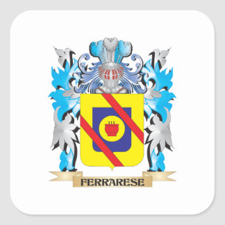 Ferrarese Coat of Arms - Family Crest Square Sticker