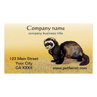 ferret pack of standard business cards