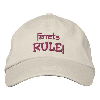 Ferrets Rule Cute Embroidered Hat