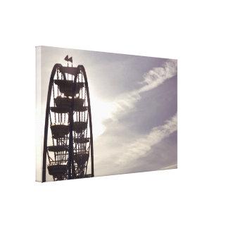Ferris Wheel Silhouette Canvas Gallery Wrap Canvas