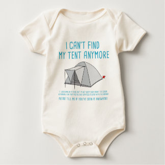 Festival i can't find my tent baby bodysuit