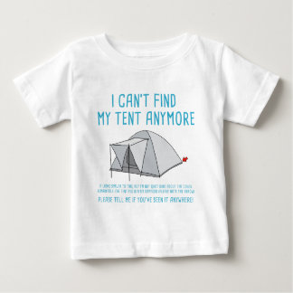 Festival i can't find my tent baby T-Shirt