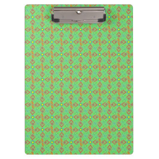 festival pattern green/mint clipboards