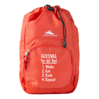 Festival 'to-do' list (wht) backpack