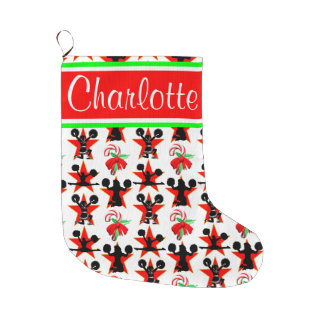 FESTIVE CHEERLEADING CHRISTMAS STOCKING
