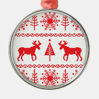Festive Christmas Sweater Pattern Christmas Ornament