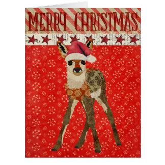 Festive Fawn Christmas Card