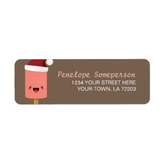 Festive Kawaii Ice Lolly Return Address Labels
