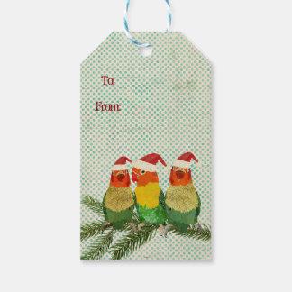 Festive Little Birds Gift Tag