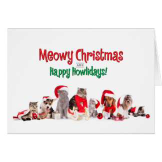 Festive Pets Holiday Card
