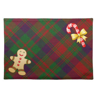Festive Red & Green Plaid Christmas Place Mat
