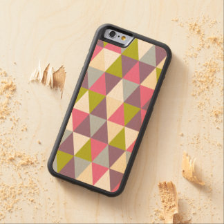 Festive Retro Geometric Wood iPhone 6 Carved Maple iPhone 6 Bumper Case