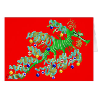 Festive Sea Dragon Greeting Card