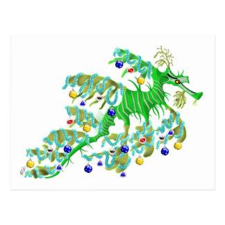 Festive Sea Dragon Postcard