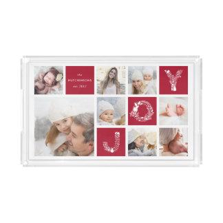 Festive Type   Holiday Photo Collage Acrylic Tray