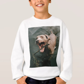 Fetching Weimaraner Sweatshirt