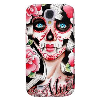 Fever Day of the Dead Sugar Skull Girl Galaxy S4 Case