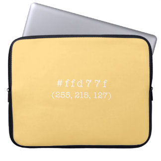 #ffd77f 15' Laptop Sleeve (White text)