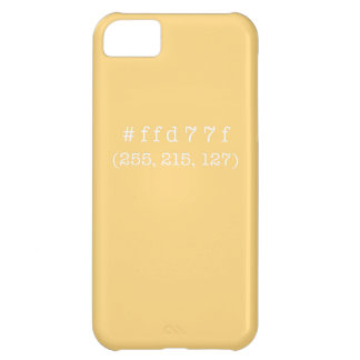 #ffd77f iPhone 5c, Barely There (White text) iPhone 5C Case