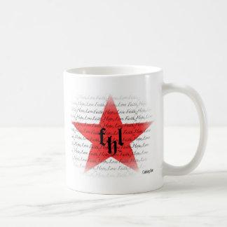 FHL (Faith, Hope & Love) All Star Logo Basic White Mug