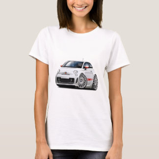 Fiat 500 Abarth White Car T-Shirt