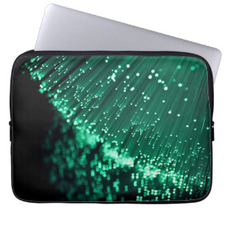 Fiber optic abstract. laptop sleeve