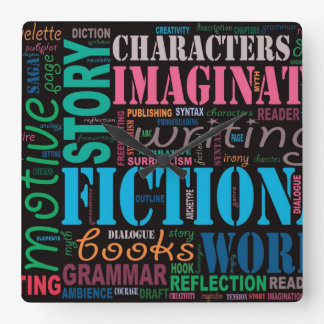 Fiction Writer's Word Art Clock