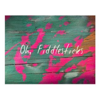 fiddlesticks postcard
