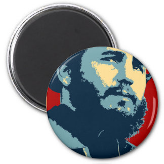 Fidel Castro - Cuban Revolution President of Cuba 6 Cm Round Magnet