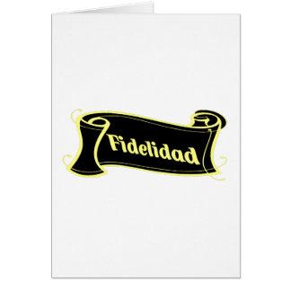 Fidelidad - loyalty writing volume kind Deco Card