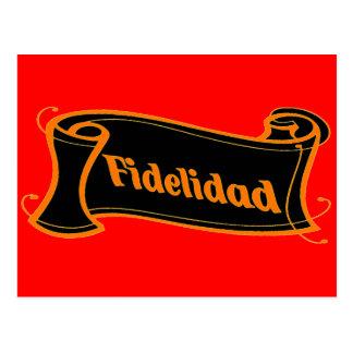 Fidelidad - loyalty writing volume kind Deco Postcard