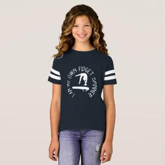 Fidget Spinner Gymnastics Balance Beam Tee Shirt