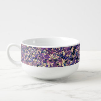 FIELD OF FLOWERS SOUP CUP SOUP BOWL WITH HANDLE
