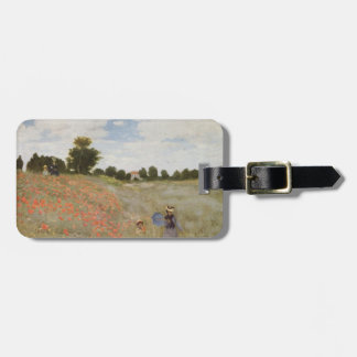 Field of Poppies Claude Monet Luggage Tag