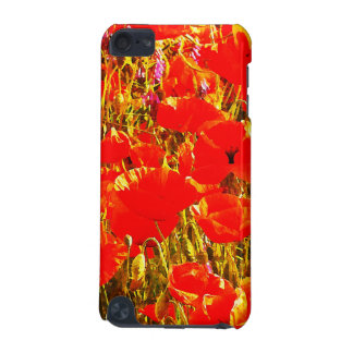 Field of Red Poppies Wildflowers Art Design 2 iPod Touch (5th Generation) Cases