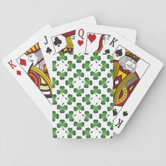 Field of Shamrocks Playing Cards