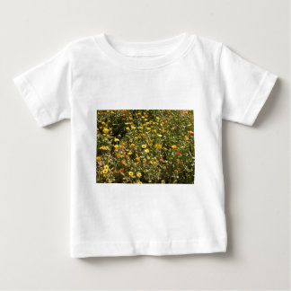 Field of yellow flowers baby T-Shirt