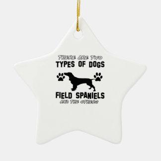 Field Spanie dog designs Christmas Ornament