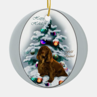 Field Spaniel Christmas Gifts Ornament
